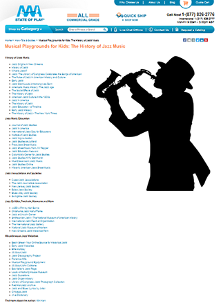 Musical playgrounds for kids the history of jazz-music